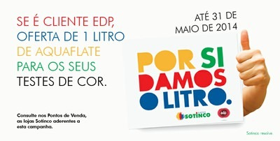 """CAMPANHA """"POR SI DAMOS O LITRO"""" – PARCERIA SOTINCO EDP."""