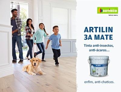 SOTINCO JÁ COMERCIALIZA ARTILIN 3A MATE – TINTA ANTI-INSECTOS, ANTI-ÁCAROS… ENFIM, ANTI-CHATICES.