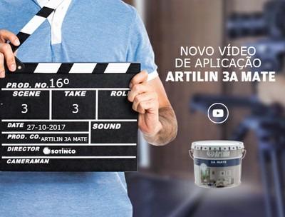 LANÇAMENTO DO VÍDEO DE APLICAÇÃO, ARTILIN 3A MATE